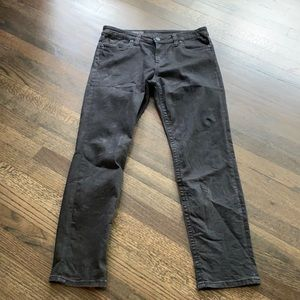 Kut From the Kloth Black Straight Leg Jeans 12S